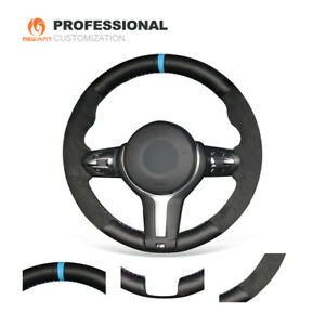 Diy Leather Suede Steering Wheel Cover For Bmw F22 F30 F32 F07 F12 M2 M3 M4 M5 M
