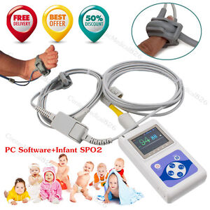 Ce neonatal Infant Pediatric Spo2 Monitor Pulse Oximeter 24 Hours Record Alarm