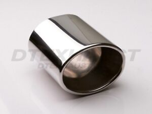 Dt 24079 Double Wall Oval Round Exhaust Stainless Tip 2 25 Inlet 6 Long