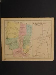 Connecticut Hartford County Map West Hartford Township 1869 J8 20