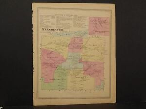 Connecticut Hartford County Map Manchester Township 1869 J8 42