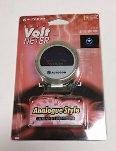 Autocom Smart Clear Analogue Style 6 To 18 Volt Meter Gauge Smoke Jdm G am3553