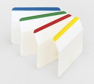 New Post it Angled Index Filing Sticky Note Repositionable Makers Tabs 4 Colours