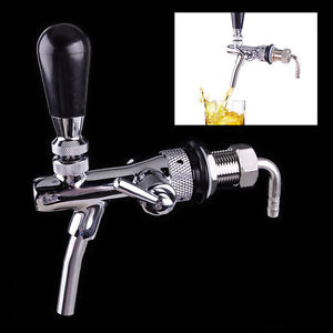 New Draft Beer Faucet With W Flow Controller Chrome Plating Shank G5 8 Tap Kit