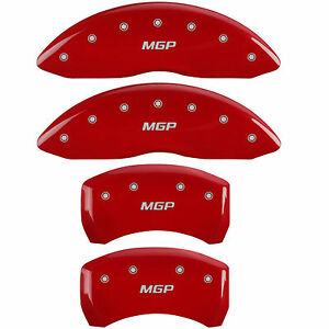 Mgp 22226smgprd Front rear Red Disc Brake Caliper Covers For Bmw X5 x6