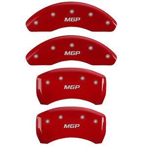 Mgp 16126smgprd Front rear Red Disc Brake Caliper Covers For Toyota Camry avalon