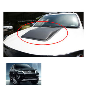 Fits Toyota Fortuner Crusade 2015 2017 Bonnet Hood Scoop Cover V1 Matte Black