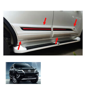 For Toyota Fortuner Crusade 2015 17 2018 Body Cladding Side Guard White Black