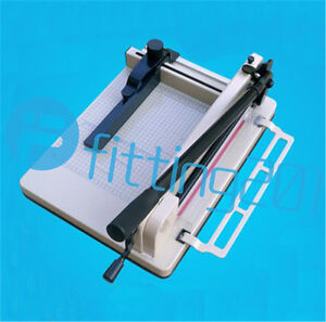 A4 Size Stack Paper Cutter All Metal Ream Guillotine No Assembly Heavy Duty 858