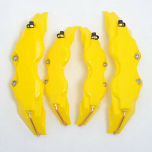 Yellow Color Plastic Universal Size S M Front Rear Disc Brake Caliper Cover
