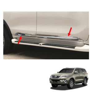 For Toyota Fortuner Crusade 2015 16 17 Body Cladding Side Molding Guard Chrome