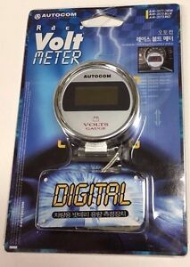 Autocom Race Chrome Digital Style 10 To 15 Volt Meter Gauge Smoke Jdm G am3571