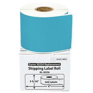 Dymo Lw 30256 Color Large Direct Thermal Blue Shipping Labels 2 Rolls Of 300
