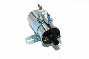 12v Universal Chrome 60 000 Volts Ignition Street Coil Canister Hot Rod