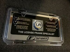 10 17 New Lexus Black Fsport Chrome License Plate Frame Holder 2012 2013 2014