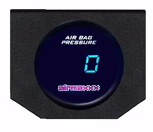Digital Air Ride Gauge Display Panel No Switches 200psi Air Suspension System
