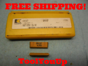 2pcs New Kennametal Gr 4187 Kc950 Top Notch Inserts Cnc Tooling Machinist Shop