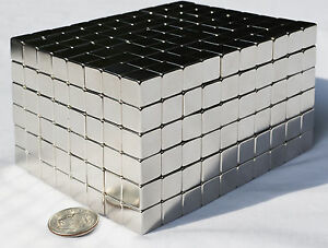 500 Magnets 5mm X 5mm 3 16 Cubes Strongest Possible N52 Neodymium Us Seller