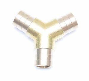 Triple Barb Y 3 4 Hose Id Brass Fitting Irrigation Air Fuel Water Fasparts