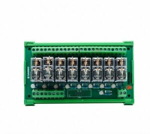 1pcs Dc12v 8 channel Plc Amplifier Board Omron Relay Module Compatible With Npn