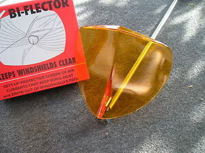 New Single Vintage Style Amber Windshield Bug Deflector 126