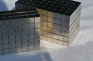 250 Magnets 4mm X 4mm 5 32 Cubes Strongest Possible N52 Neodymium Us Seller