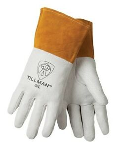 4 Pair Bundle Tillman 30 Top Grain Pigskin Tig Welding Gloves Medium Large