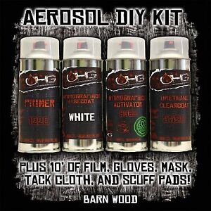 Ohg 13 5 Fl Oz Aerosol Hydrographics Diy Dip Kit Barn Woodgrain Rustic Film