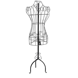 Wire Display Mannequin Stand Dress Form Women Clothing Showcase Boutique Shop