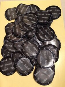 50pc Professional 2 1 4 Round Radial Tire Repair Patches Fast free shipping