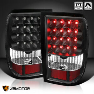 For 2006 2011 Ford Ranger Led Tail Lights Rear Brake Lamps Black Replacement