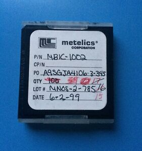 Mbic 1002 Metelics Capacitor Chip Rf Microwave 15 units