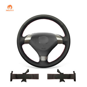 Mewant Durable Black Soft Leather Steering Wheel Cover For Honda Accord 7 Coupe