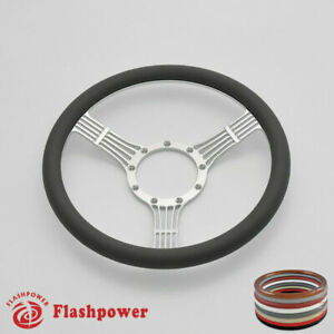 14 Billet Steering Wheels Dark Gray Half Wrap Banjo Ford Fairlane Galaxie Ltd