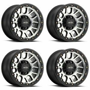 Set 4 20 Vision 111 Nemesis Black Machined Rims 20x9 6x5 5 10mm Chevy Gmc 6 L