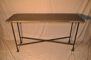 Iron Base Slate Top Sofa Or Hall Table Top Comes Off