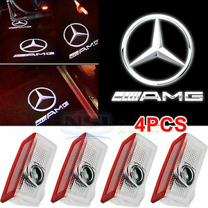 4pcs Logo Led Door Courtesy Light Ghost Shadow Laser Projector For Mercedes Benz