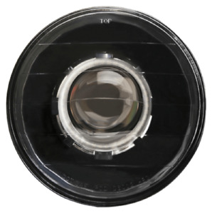 Ipcw Cwc 7008f Universal Black Lhd 7 Round Headlight With 64mm Projector