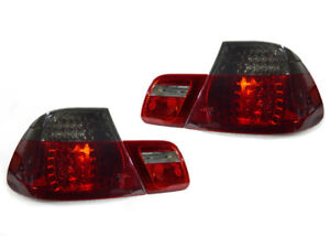Depo M3 Red Smoke Led Rear 4pcs Tail Lights For 2000 2003 Bmw E46 2 Door Coupe