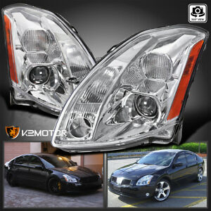 For 2004 2006 Nissan Maxima Clear Replacement Projector Headlights Left right