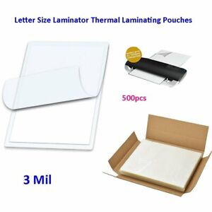 3 Mil Laminator Thermal Laminating Pouches Letter Size 500 For 9 X 11 5 Sheets