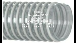 Kanaflex 100 Cl2 2 Corrugated Clear Pvc Water Suction Hose per Foot