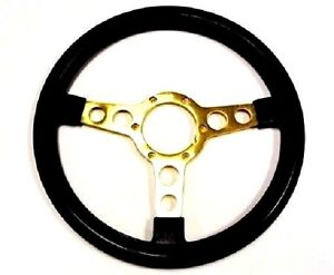 1970 1981 Trans Am Se Steering Wheel Black W Gold Spokes Special Edition