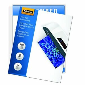 Caro fel52041 fellowes Laminating Pouches Thermal Letter Size 7 Mil 100 Pac