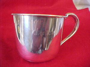 Sterling Silver Baby Cup Reed Barton Engraved Monica