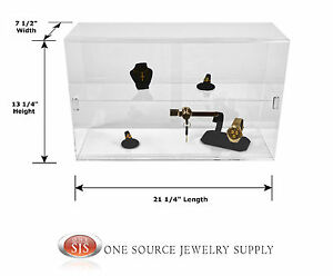 Counter Top Display Case Acrylic Display Showcase Display Sliding Door Case
