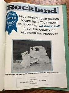 Vintage Rockland Construction Equipment Brochures Land Clearing 1960s