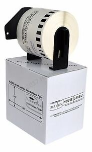6 Rolls Dk 2205 Brother compatible Continuous Labels With Permanent Cartridges
