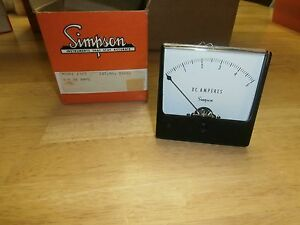 Simpson Model 1327 Cat 02680 Analog 0 5 Dc Amps Panel Meter nib nos