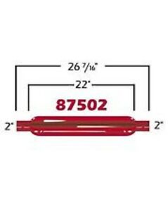 Cherry Bomb 87502cb Red Glasspack Muffler Straight 2 Inlet Outlet 26 4375 L